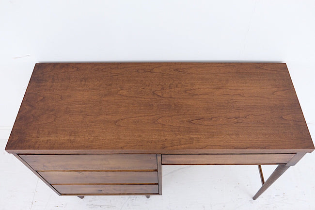 Mid Century Modern Desk Maple Birch Veneer Finished On All Sides Handmade in Maryland