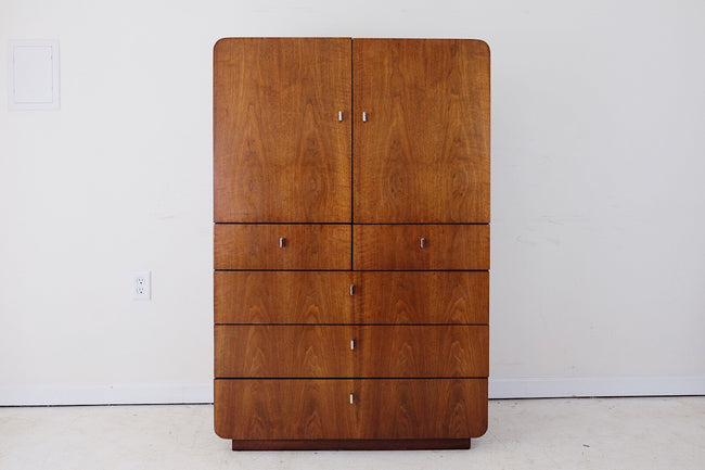 Founders Furniture Tall Dresser Only Mid Century Modern Atomic Glam Minimalistic Zen
