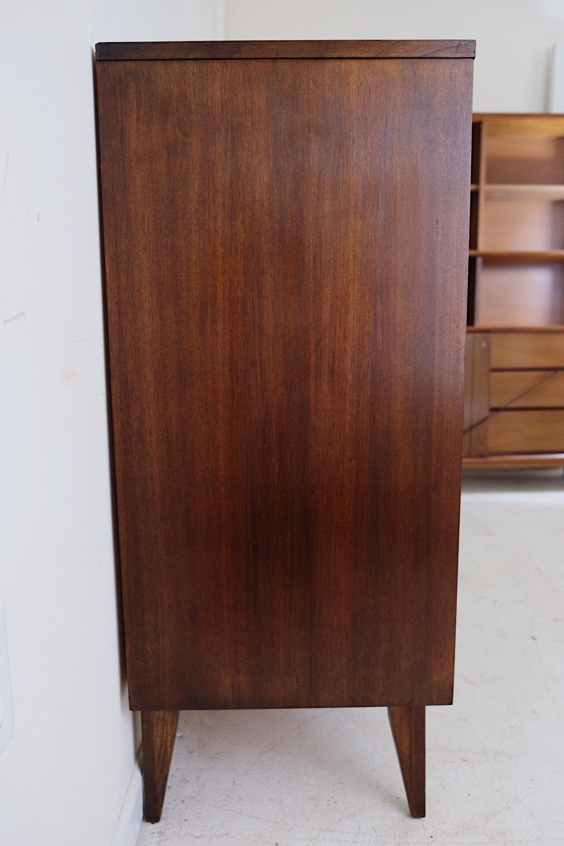Basic Witz Tall Carved Wood Framed Beveled Edge Tall Dresser