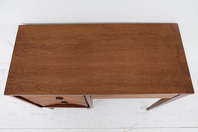 Johnson Carper Desk Mid Century Modern Square Brass Pull New Cherry Veneer