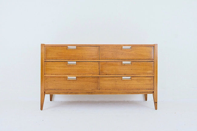 Basic Witz Low Dresser Six Drawer Metal Inset Handles