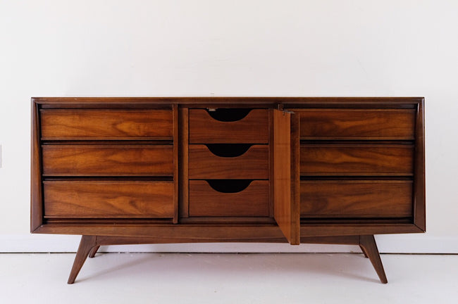 Columbia & Myers Sculpted Mid Century Modern Lowboy