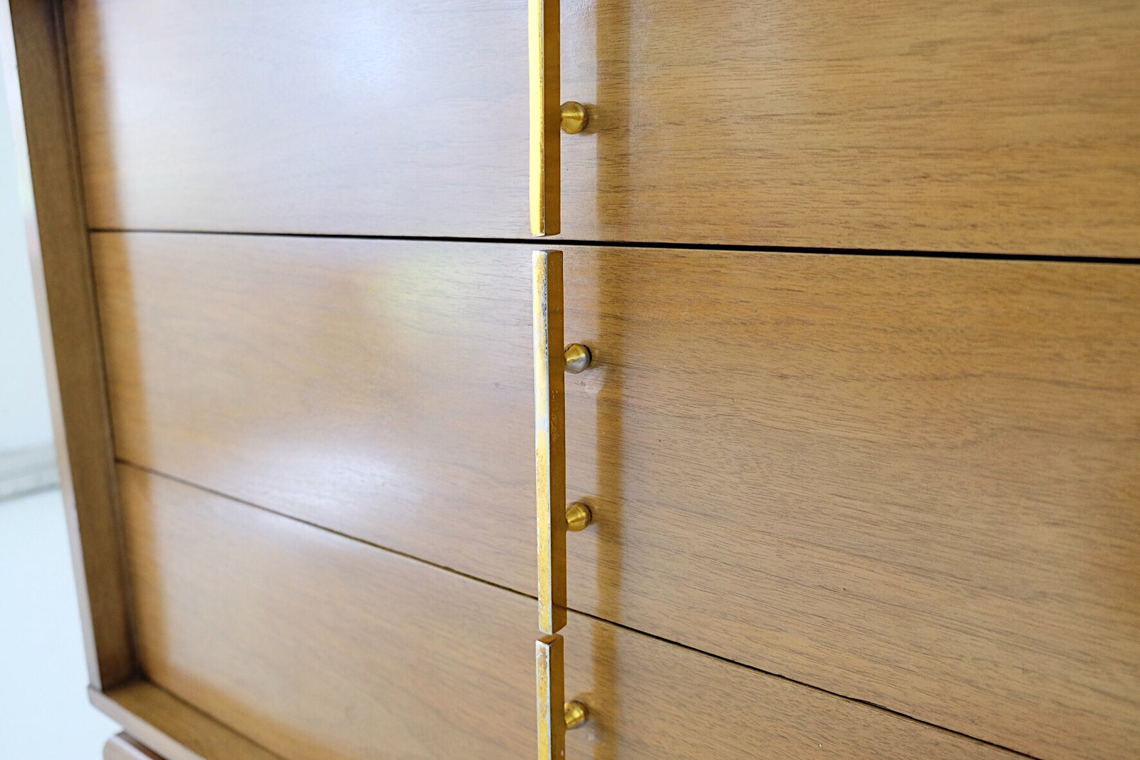 Kent Coffey The Sequence Mid Century Tall Dresser Brass Hardware