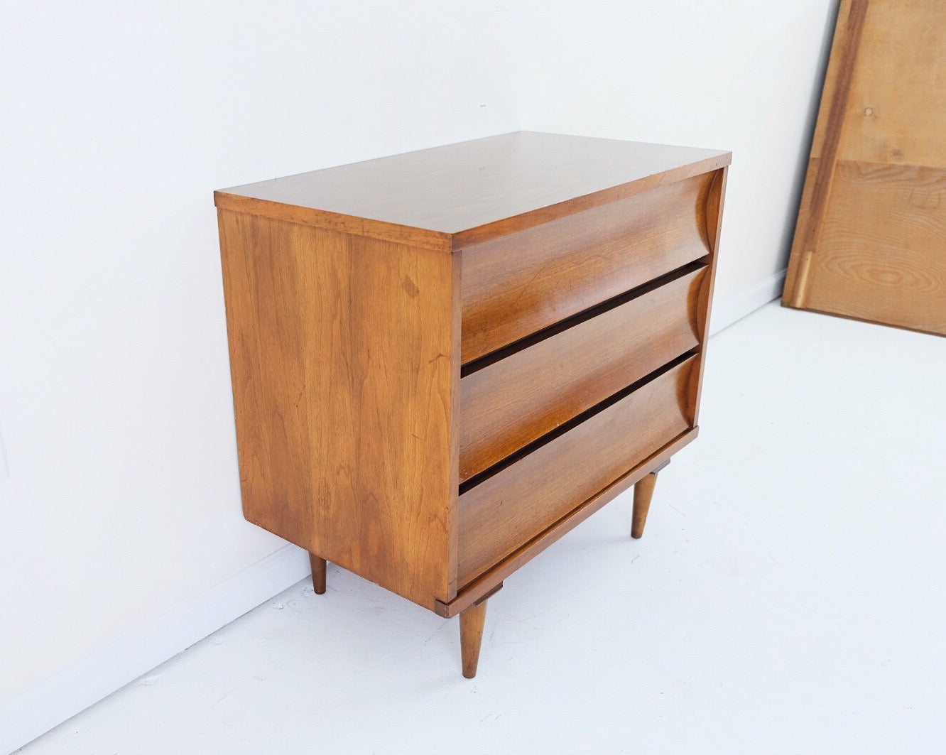 Johnson Carper Mid Century Modern Walnut Short Dresser