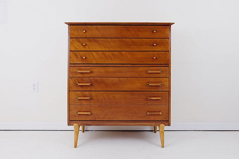 Vinde Mobler Low Teak Model 122 Dresser by Arne Wahl Iversen Eight Drawers