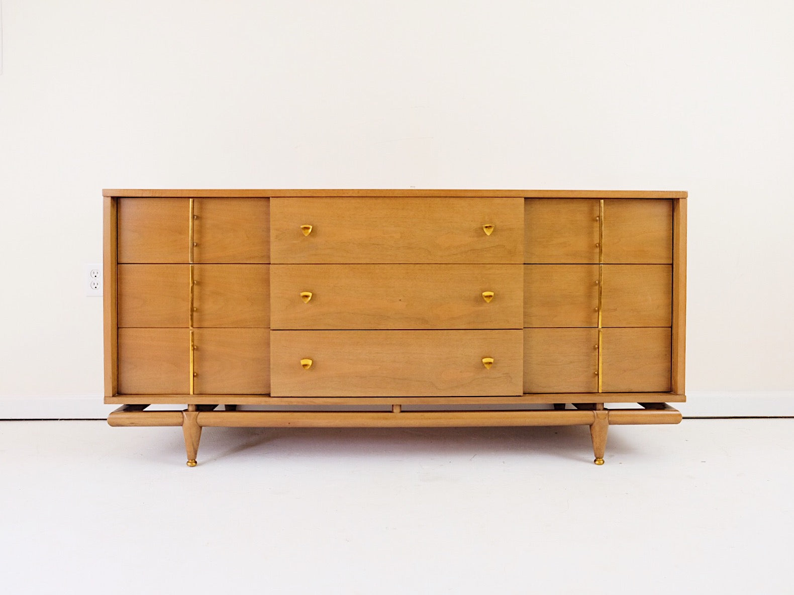Kent Coffey The Sequence Lowboy GORGEOUS Top Brass Handles