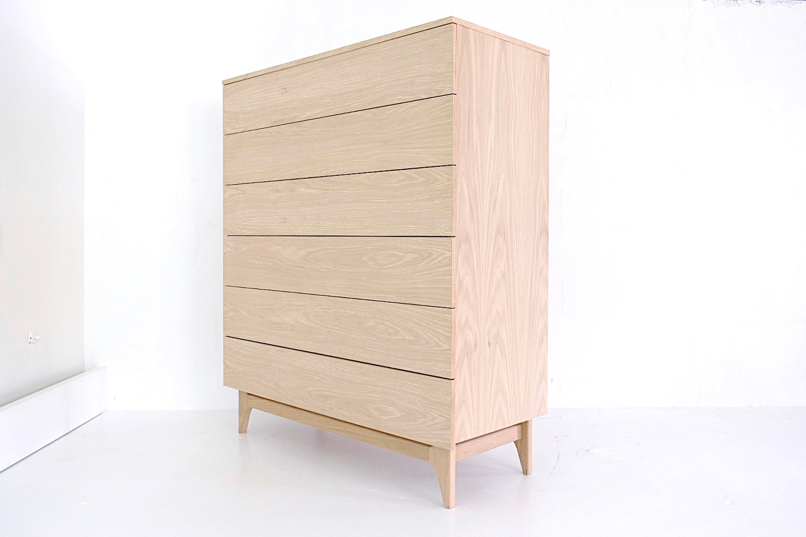 white oak tall dresser