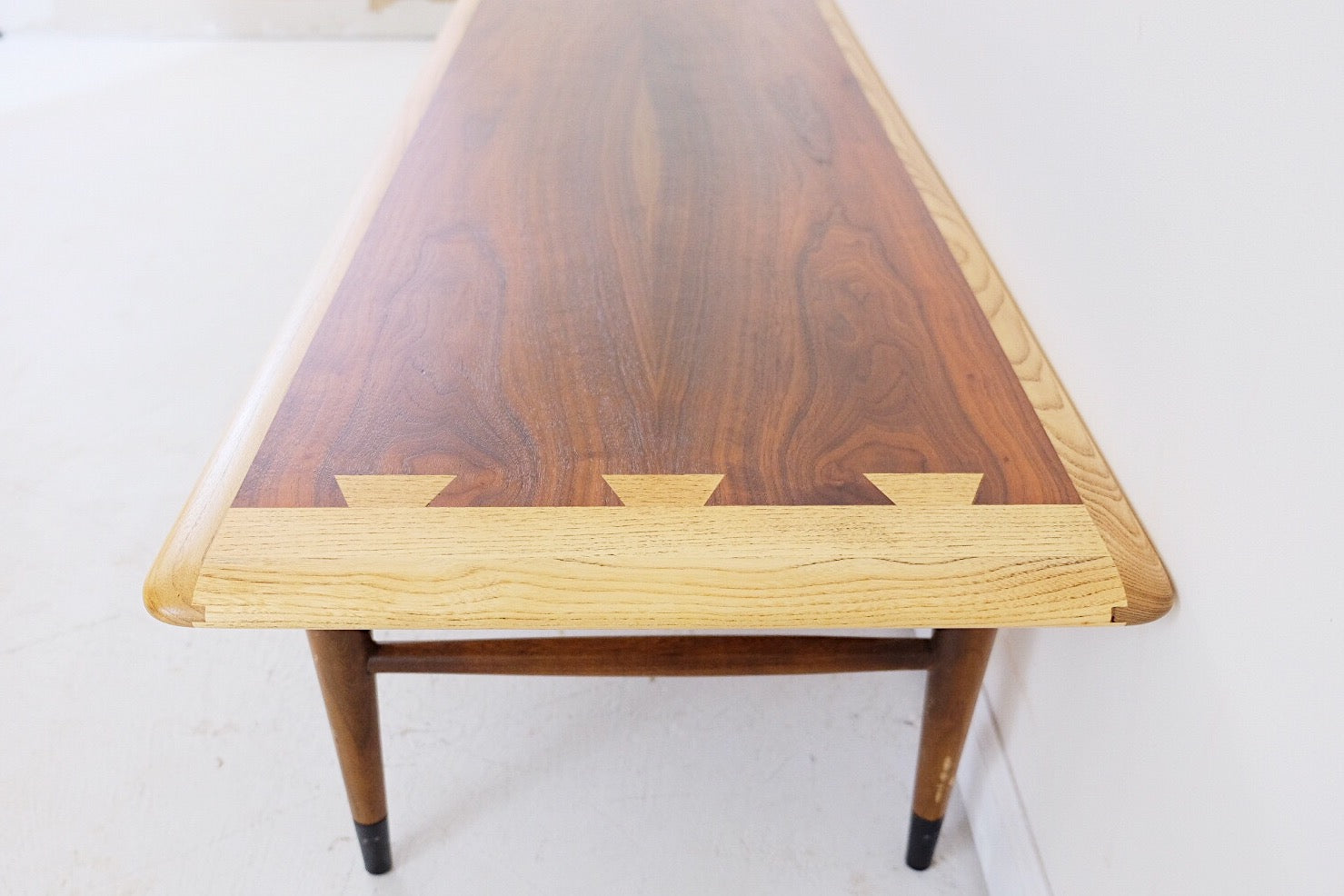 Lane Acclaim Walnut Coffee Table Mid Century Modern Dovetail