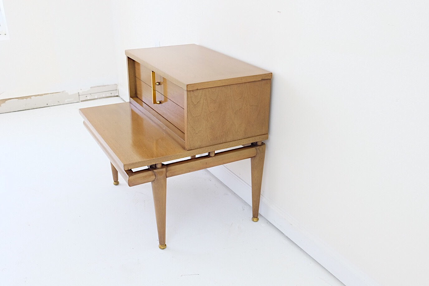 Kent Coffey The Sequence Mid Century Nightstand Brass Hardware