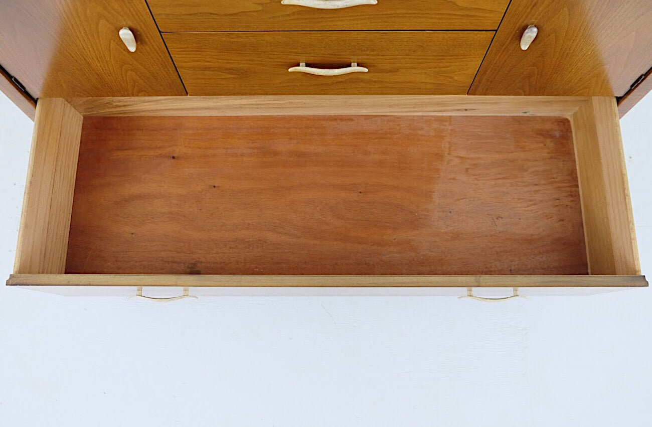 Drexel Profile by John O. Van Koert Sideboard Hutch Base Low Chest Of Three Drawers Two Cabinets