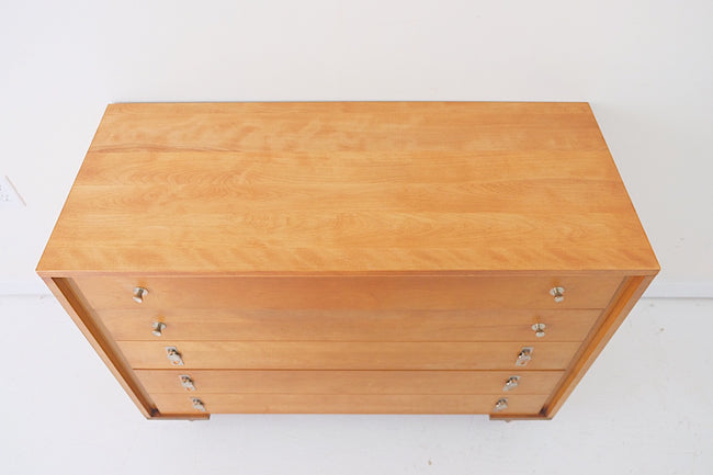 Atlas Furniture Company Mid Century Modern Three Drawer with Trumpet and Leaf Pulls