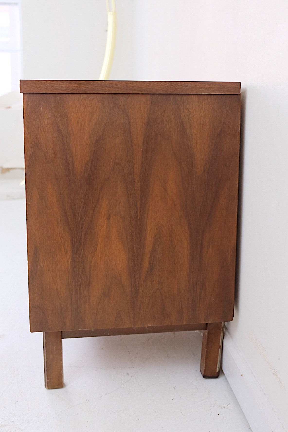 Rattan Cane Brass Nightstand Style Of Jack Cartwright for Founders