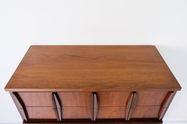 Columbia & Myers Sculpted Mid Century Modern Tallboy