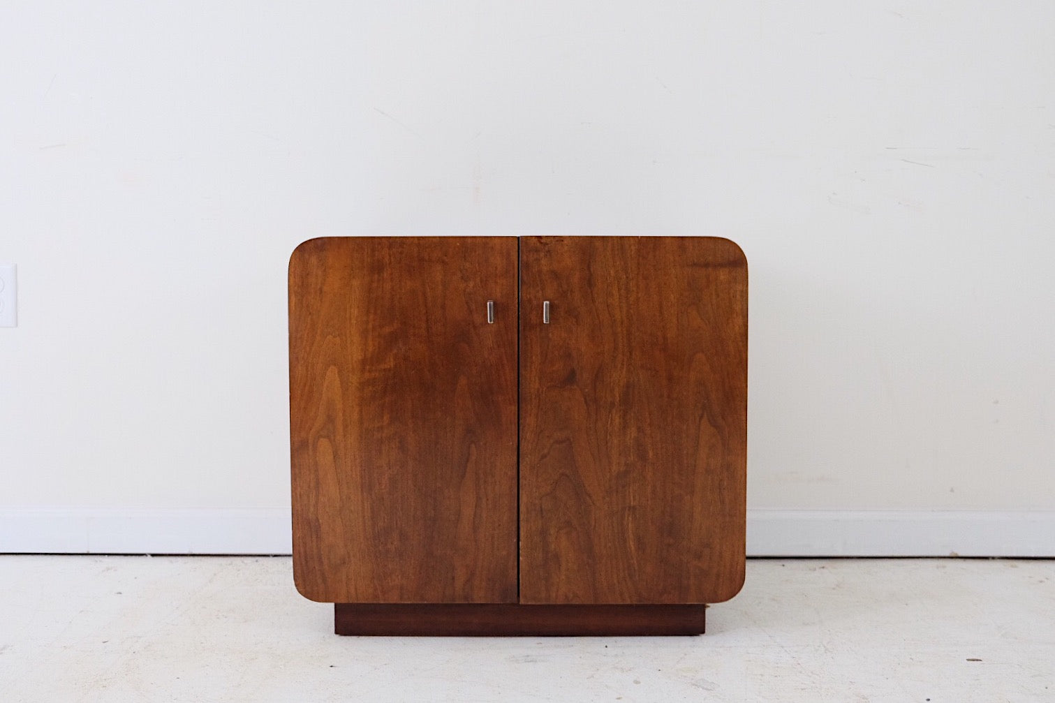 Founders Furniture End Table Side Table Media Cabinet Mid Century Modern Atomic Glam Minimalistic Zen