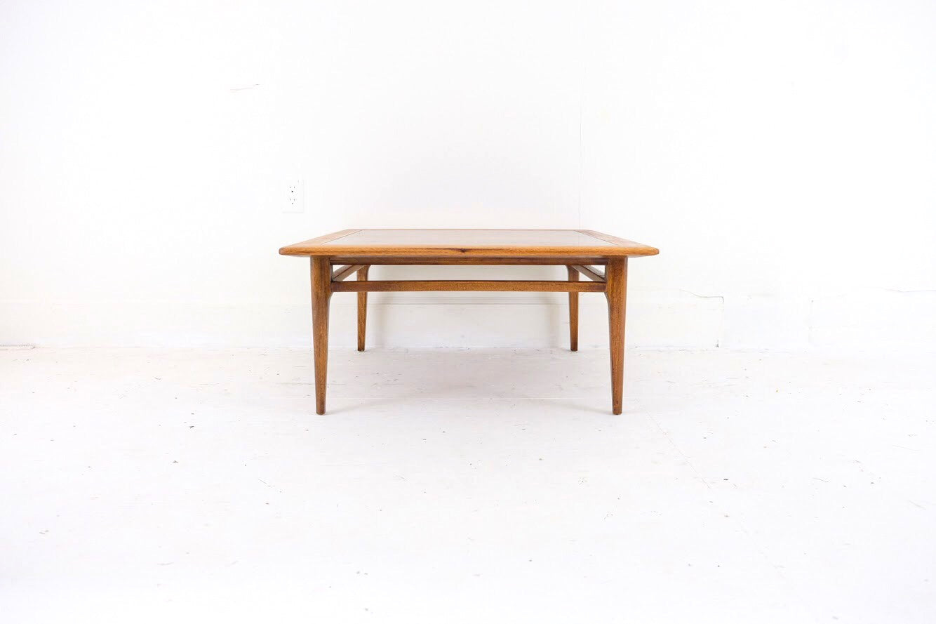 Two-Toned Square Mid Century Modern Coffee Table