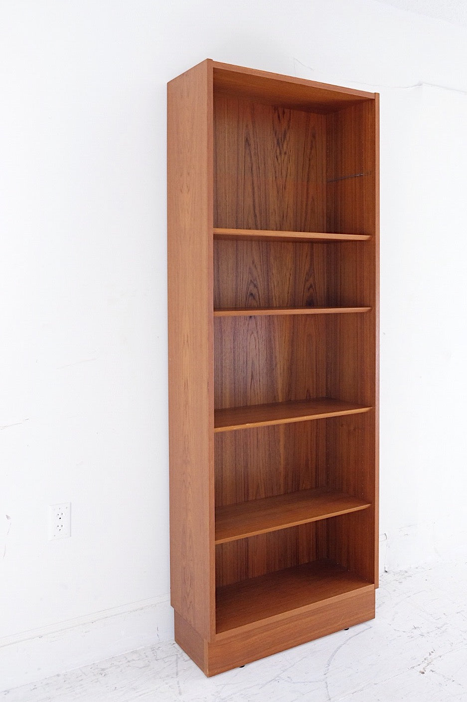 Poul Hundevad Teak Bookcase Five Shelves Danish Mid Century Modern