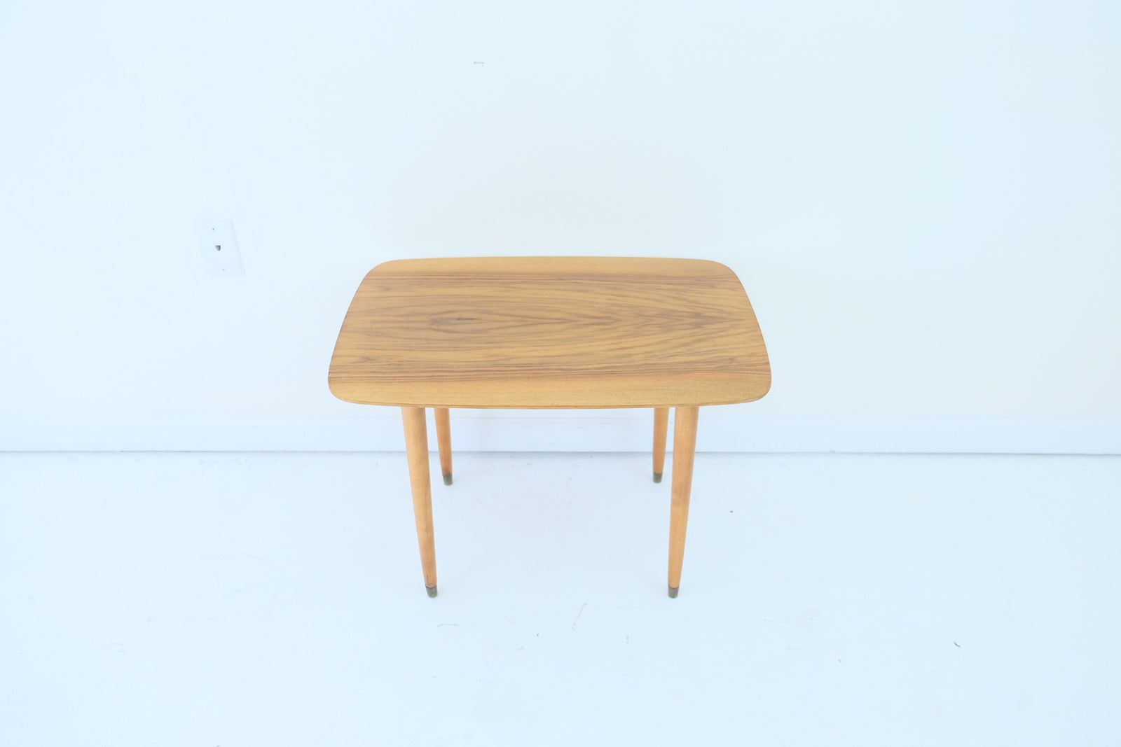 Scandinavian Modern Tapered Leg Side Table