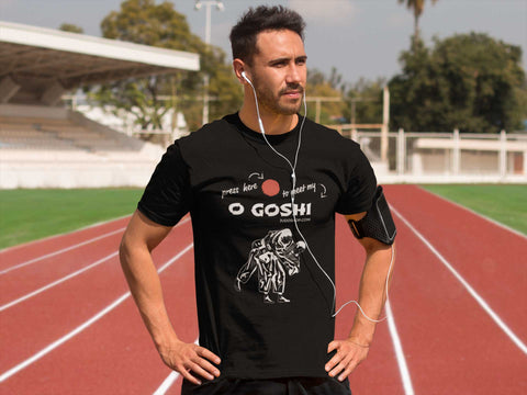 Judo O Goshi Press Here Men's Tshirt - JudoShop.com