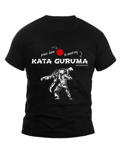 Judo Kata Guruma Press Here Men's Tshirt - JudoShop.com