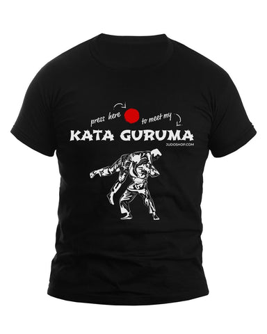 Image of Judo Kata Guruma Press Here Men's Tshirt - JudoShop.com