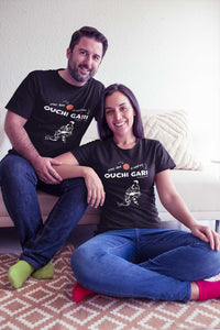 Judo Ouchi Gari Press Here Men's Tshirt - JudoShop.com