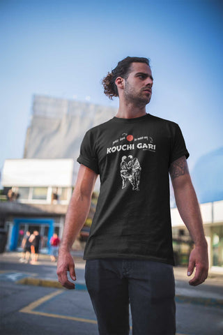 Image of Judo Kouchi Gari Press Here Men's Tshirt - JudoShop.com