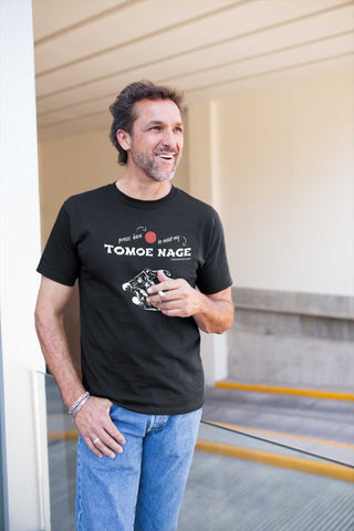 Judo Tomoe Nage Press Here Men's Tshirt - JudoShop.com