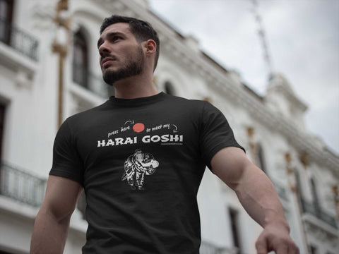 Image of Judo Harai Goshi Press Here Men's Tshirt - JudoShop.com
