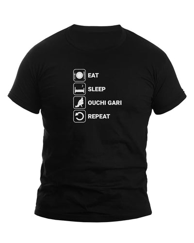 Eat Sleep Ouchi Gari Repeat Judo T-Shirt - JudoShop.com