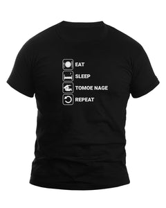 Eat Sleep Tomoe Nage Repeat Judo T-Shirt - JudoShop.com
