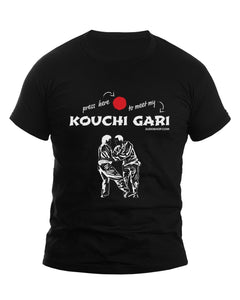 Judo Kouchi Gari T-Shirt - Press Here Design - JudoShop.com