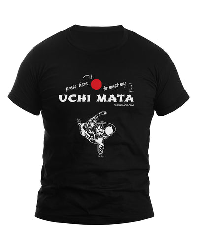 Uchi Mata T-Shirt - Press Here - Men's Short Sleeve - JudoShop.com