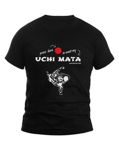 Uchi Mata Press Here Judo Men's Tshirt