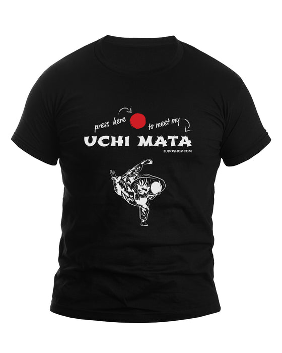 Judo T-Shirt Uchi Mata Press Here - JudoShop.com