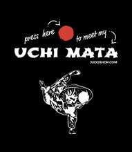 Load image into Gallery viewer, Judo T-Shirt Uchi Mata Press Here - JudoShop.com