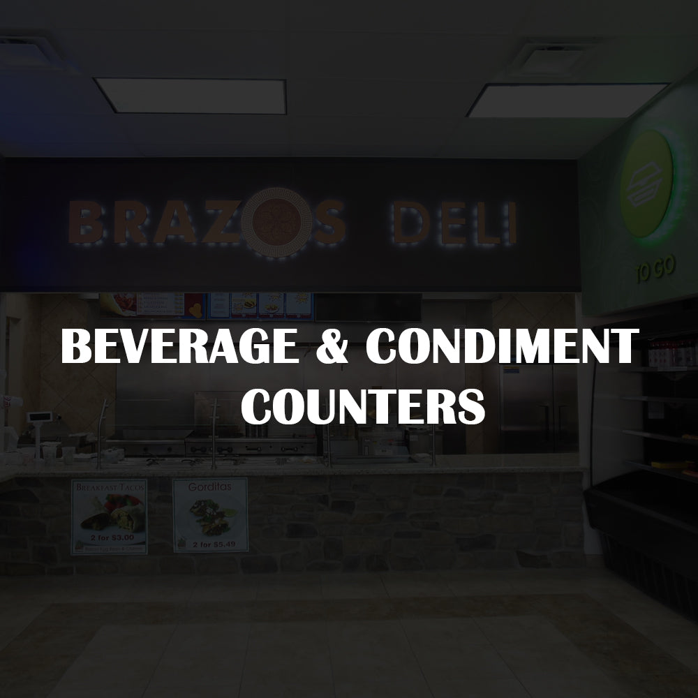 Beverage and Condiment Counters