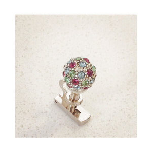 Pavé Ball fine tuner Green and Purple Multi