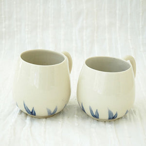 Blue Leaves Cups (Set of Two)