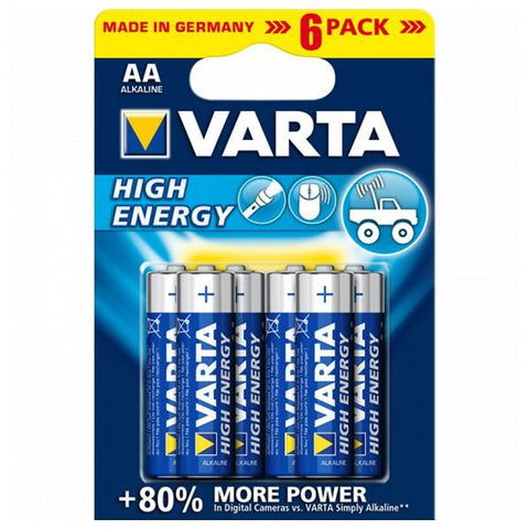 Alkaline Battery Varta 1,5 V AA High Energy (6 pcs) Blue