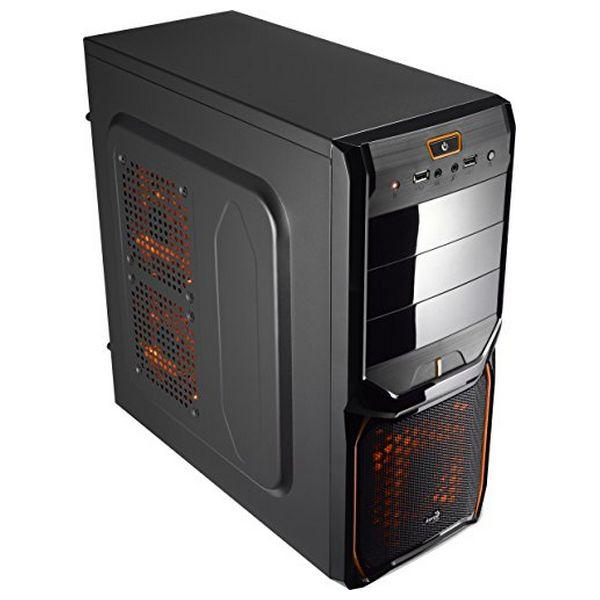 ATX Semi-tower Box Aerocool ICACSM0179 V3XADBO USB 3.0 Orange Edition Midi-Tower Black