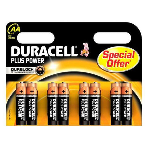 Alkaline Batteries DURACELL Plus Power DURLR6P8B LR6 AA 1.5V (8 pcs)