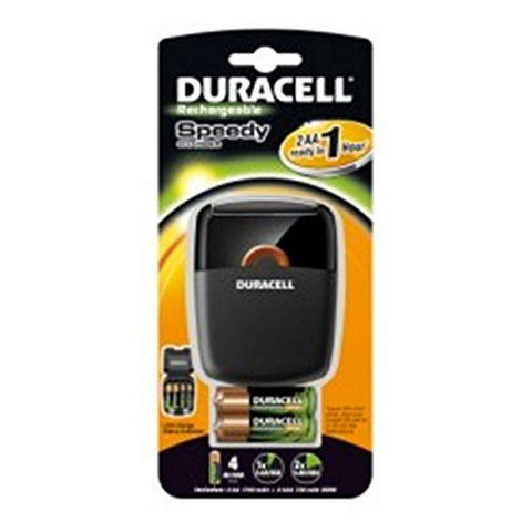 Charger + Rechargeable Batteries DURACELL DRBCEF27 2 x AA + 2 x AAA 1700 mAh 750 mAh-DURACELL-Clauven.com