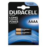 Alkaline Batteries DURACELL Ultra Power DRB25002 MX2500 AAAA 1.5V (2 pcs)