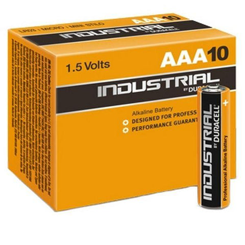 Alkaline Batteries DURACELL Industrial DURINDLR3C10 LR03 AAA 1.5V (10 pcs)-DURACELL-Clauven.com
