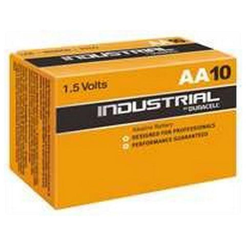 Alkaline Batteries DURACELL Industrial DURINDLR6C10 LR6 AA 1.5V (10 pcs)-DURACELL-Clauven.com
