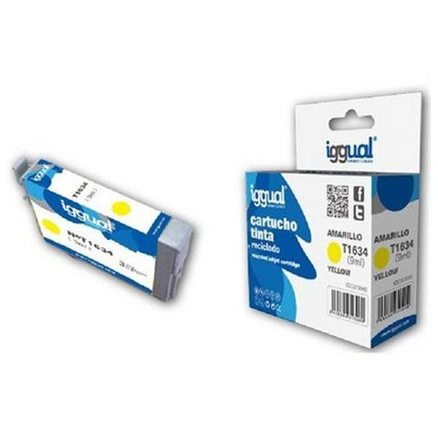 Recycled Ink Cartridge iggual Epson E-1634 Yellow-iggual-Clauven.com