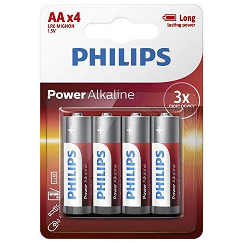 Philips Alkaline battery LR6 AA PACK-4