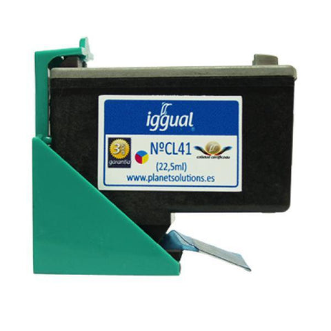 Recycled Ink Cartridge iggual Canon PSICL41 Colour-iggual-Clauven.com