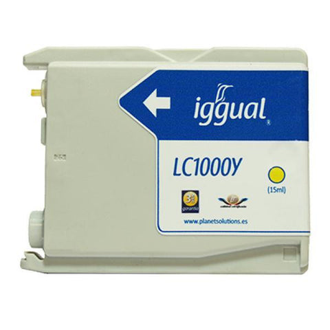 Recycled Ink Cartridge iggual Brother PSILC1000Y Yellow-iggual-Clauven.com