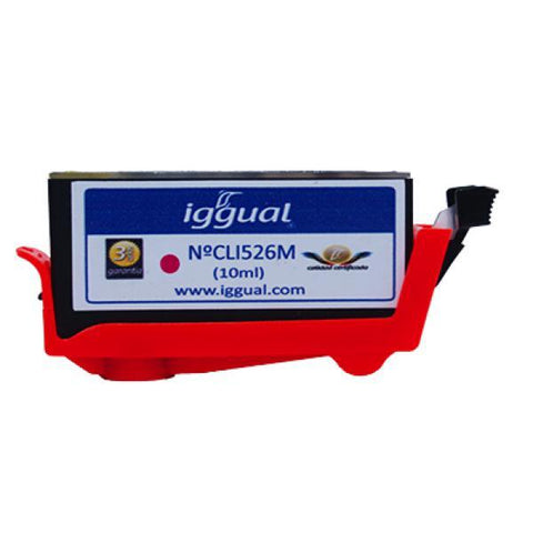 Recycled Ink Cartridge iggual Canon PSICLI526M Magenta-iggual-Clauven.com